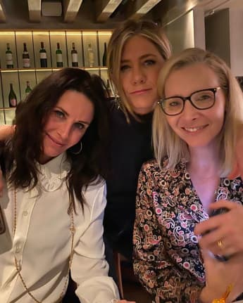 Courteney Cox, Jennifer Aniston und Lisa Kudrow Reunion Friends