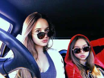 Davina und Shania Geiss dürfen in Dubai mit Luxusschlitten fahren
