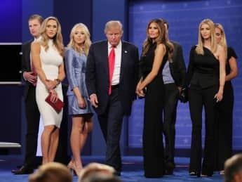 Donald Trump wird von seiner Familie immer unterstützt