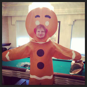 Ed Sheeran an Halloween als Lebkuchenmann, Ed Sheeran
