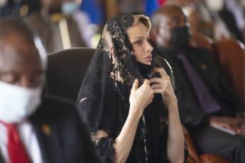 Fürstin Chàrlene bei der Gedenkfeier für ihren verstorbenen Freund König Goodwill Zwelithini von Südafrika am 18. März 2021