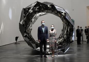 König Felipe und Königin Letizia im Guggenheim-Museum