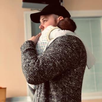 Felix van Deventer mit seinem Sohn Noah