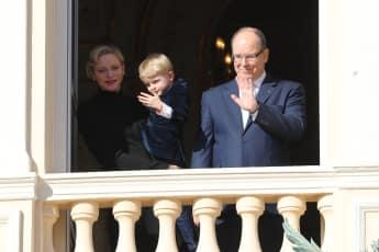 Fürstin Charlène und Fürst Albert II. mit Sohn Prinz Jacques von Monaco