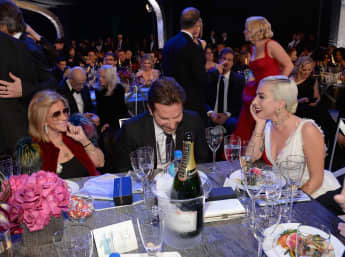 Bradley Cooper mit Gloria Campagno und Lady Gaga