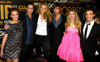 """Gossip Girl""-Cast Leighton Meester, Penn Badgley, Blake Lively, Chace Crawford, Taylor Momsen und Ed Westwick"