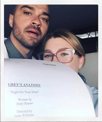 "Ellen Pompeo und Jesse Williams am Set von ""Grey's Anatomy"""
