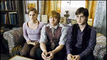 Daniel Radcliff, Emma Watson and Rupert Grint in 'Harry Potter'