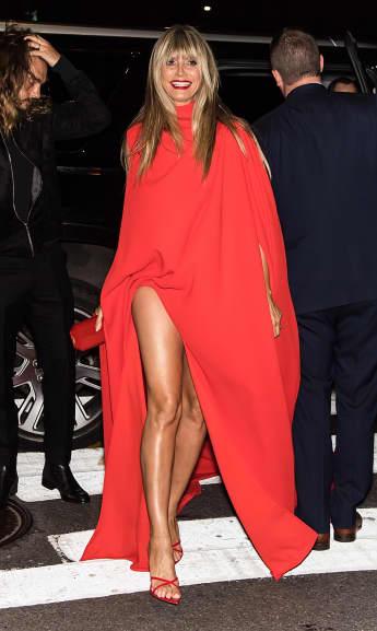 Heidi Klum in rot