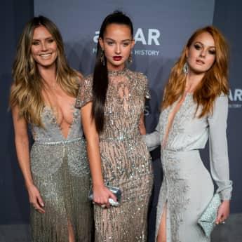 Heidi Klum Germany's Next Topmodel Cäcilia Vanessa amfAR Gala New York