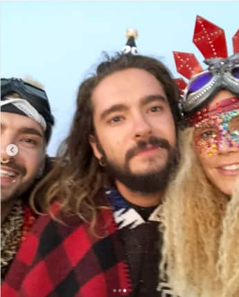 Bill Kaulitz, Tom Kaulitz und Heidi Klum auf dem Burning Man Festival
