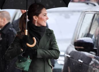 Herzogin Kate Blackpool grün Mantel