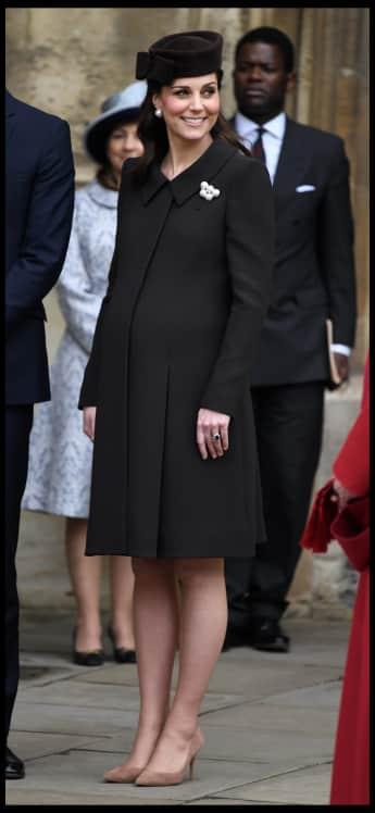 Herzogin Kate, Babybauch, Schwanger, Ostern