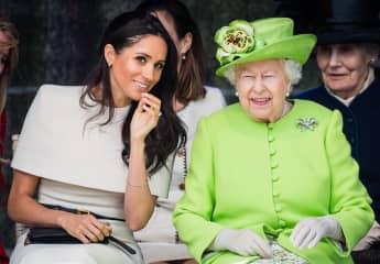 Herzogin Meghan und Königin Elisabeth II. im Jahr 2018