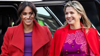 Herzogin Meghan und Königin Máxima in ähnlichem Look