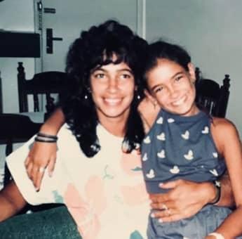 Jana Ina Zarrella mit ihrer Mama