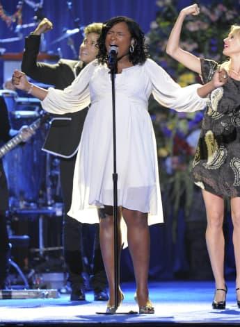 Jennifer Hudson sang 2009 bei Michael Jacksons Beerdigung