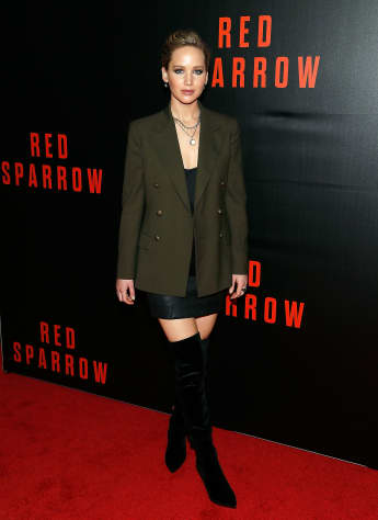 "Jennifer Lawrence auf der ""Red Sparrow""-Premiere in Washington, DC."