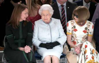 Königin Elizabeth und Anna Wintour auf der Londoner Fashion Week