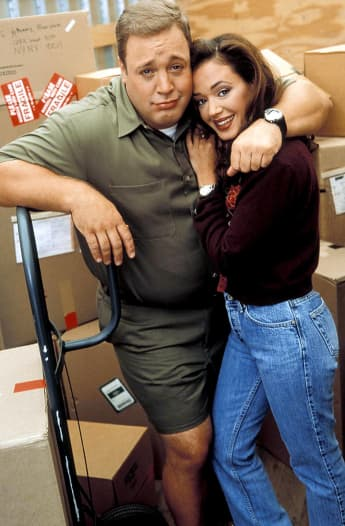 Kevin James und Leah Remini