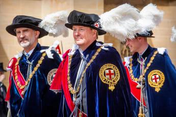 König Felipe und König Willem-Alexander Hosenbandorden