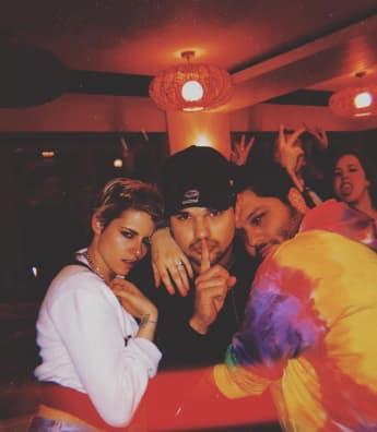 Kristen Stewart, Taylor Lautner und Hairstylist CJ Romero