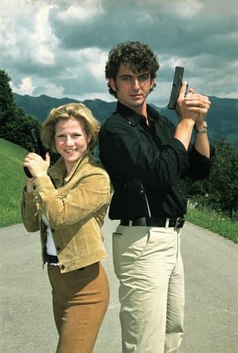 """Kristina Sprenger und Hans Sigl gemeinsam in der """"Soko Kitzbühel"""" 1970"""