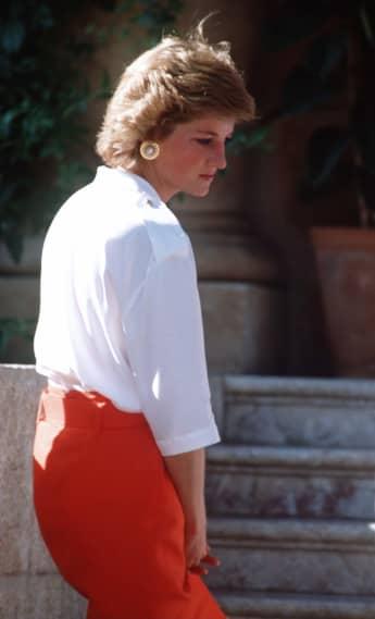 Lady Diana während des Mallorca-Urlaubs im Jahr 1988