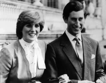 Lady Diana und Prinz Charles zur Verlobung