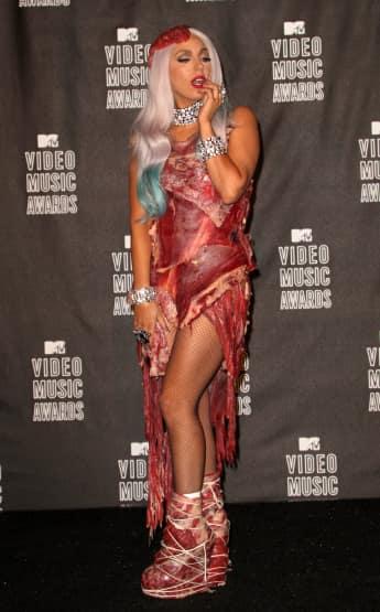Fleisch-Kleid Lady Gaga