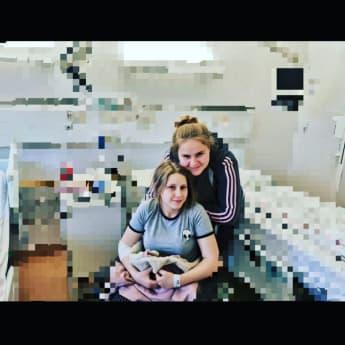 Loredana und Estefania Wollny im Krankenhaus