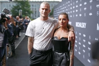 Loris Karius und Sophia Thomalla bei der Berliner Fashion Week 2019