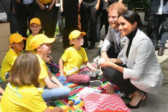 Prinz Harry und Herzogin Meghan beim Empfang des Premierministers