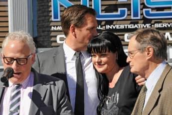 Michael Weatherly und Pauley Perrette bei der Feier zur 3.000 NCIS-Folge