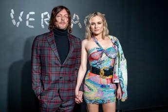 Norman Reedus und Diana Kruger bei der Versace Fashion-Show in New York City 2018
