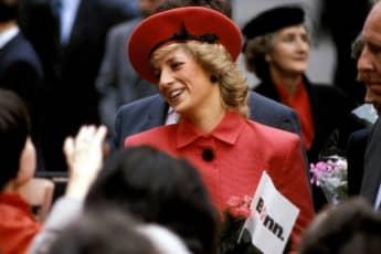 Lady Diana bei einer Veranstaltung im Jahr 1985