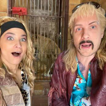"""Oliver Pocher und Amira Pocher als """"Tiger Kings"""""""