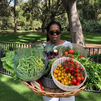 Oprah Winfrey hat einen grünen Daumen