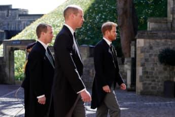 Peter Philips, Prinz William und Prinz Harry
