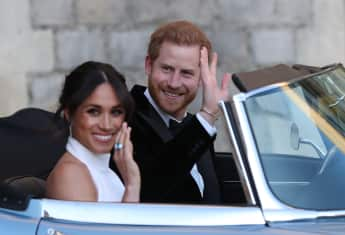 Prince Harry and Duchess Meghan leave Windsor Castle after their wedding