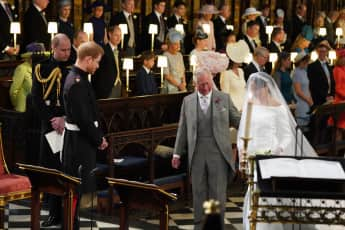 Prince Charles led Duchess Meghan down the aisle