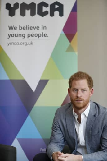 Prince Harry at the South Ealing YMCA in London on April 4th 2019.