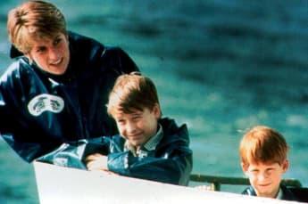 Princess Diana, Prince William, Prince Harry Boat