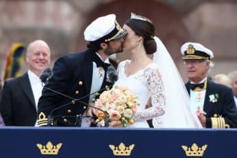 Prinz Carl Philip und Prinzessin Sofia bei ihrer Hochzeit im Juni 2015