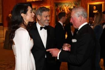 Prinz Charles, George und Amal Clooney verstehen sich prächtig