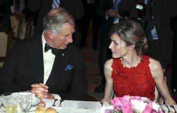 Prinz Charles und Königin Letizia london