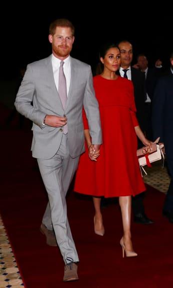 Prinz Harry Herzogin Meghan Marokko Händchen