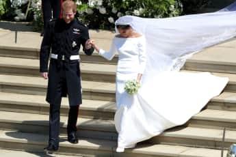Prinz Harry Herzogin Meghan Hochzeitskleid