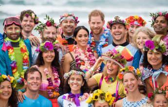Prinz Harry und Herzogin Meghan in Sydney am Strand