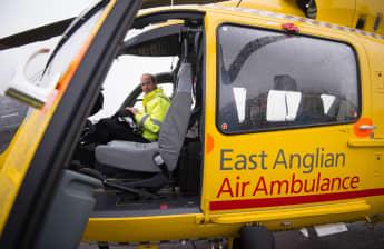 Prinz William Rettungspilot im Einsatz East Anglian Air Ambulance
